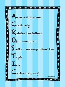 acrostic poetry unit year long lessons   items
