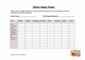 best photos of simple weekly budget weekly budget With easy budget planner template