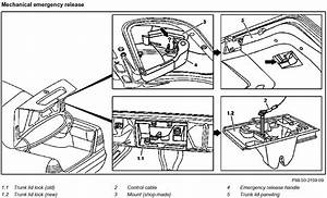 Where Is The Emergency Trunk Release In 1998 C280 Located In Trunk  Had To Cut Out Ski Hole And