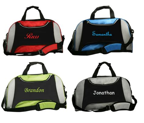personalized monogrammed duffel bag gym dance cheer embroidered   choose ball ebay