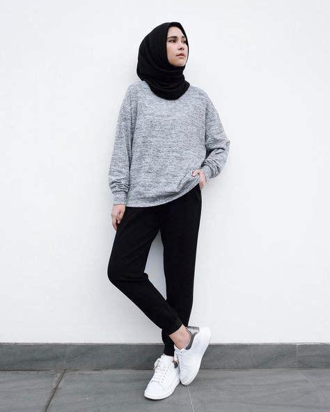 Outfit Hijab Simple Ke Kampus