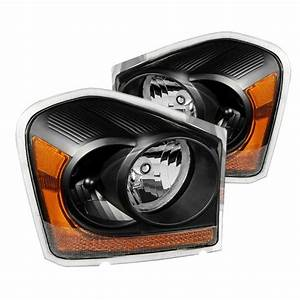 2005 Dodge Durango Light Replacement 04 05 Dodge Durango Oem Style Replacement Headlights Black