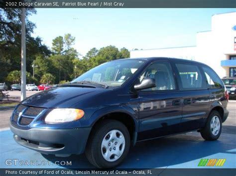 2002 Dodge Caravan Se by Patriot Blue Pearl 2002 Dodge Caravan Se Mist Gray