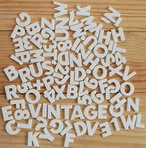 vintage plastic magnetic letters small white letters and With small plastic letters and numbers
