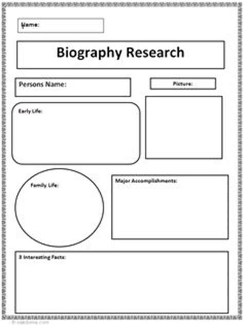biography graphic organizer elementary reading pinterest