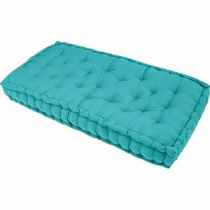 Coussin Pour Banc Ikea : matelas de sol banquette serge turquoise 60x120x15 achat ~ Dailycaller-alerts.com Idées de Décoration
