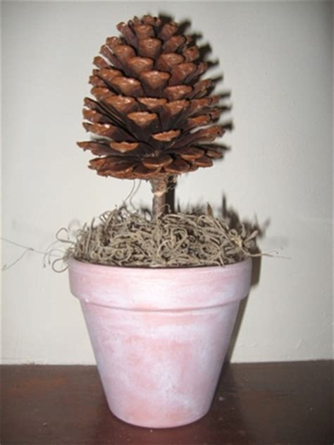 Kids Crafts Pine Cone Topiary  The Kid's Fun Review