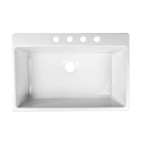 Acrylic Kitchen Sinks by Lyons Industries Essence Drop In Acrylic 33x22x9 In 4