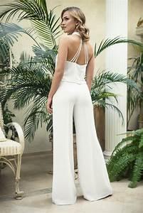 Combinaison Pantalon Femme Mariage : combinaison blanche mariage l 39 alternative id ale la ~ Carolinahurricanesstore.com Idées de Décoration