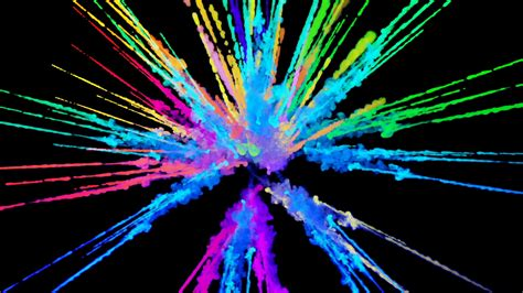 colorful picture explosion of powder isolated on black background 3d