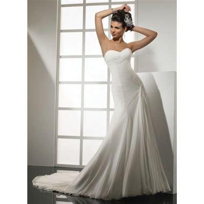 simple mermaid sweetheart chiffon wedding dress