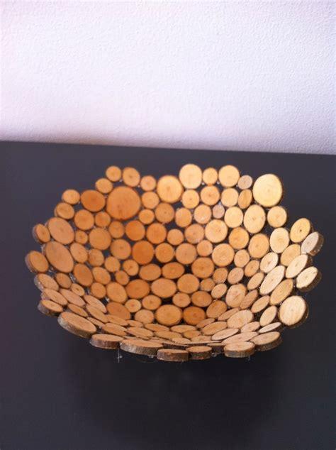 knutsel een schaal van houtplakjes knutselen hout