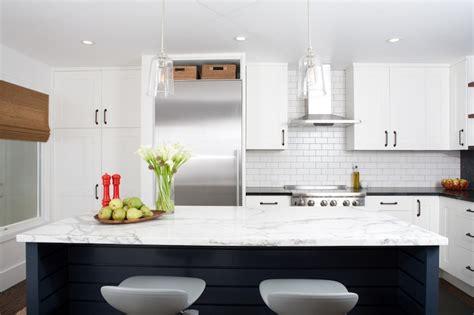 blue kitchen island contemporary kitchen regan baker
