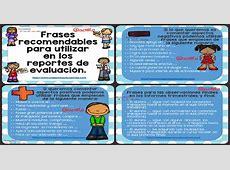 Frases recomendables para utilizar en los reportes de