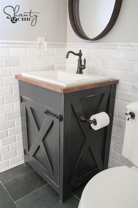 corner bathroom vanity with 2 sinks diy farmhouse bathroom vanity shanty 2 chic