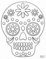 Skull Sugar Coloring Simple Printable Skulls Drawing Candy Templates Supercoloring Crafts Paper Fargelegge Dot Whitesbelfast Metarnews sketch template