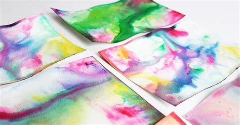 science art  kids marbled milk paper babble dabble