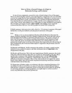 Research Critique Essay research critique paper sample 2019