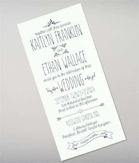 doodle love tall wedding invitation diy wedding
