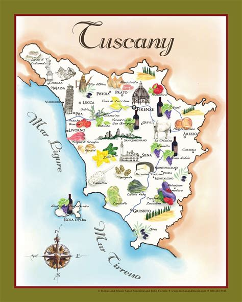 table dining the bounty of tuscany food map