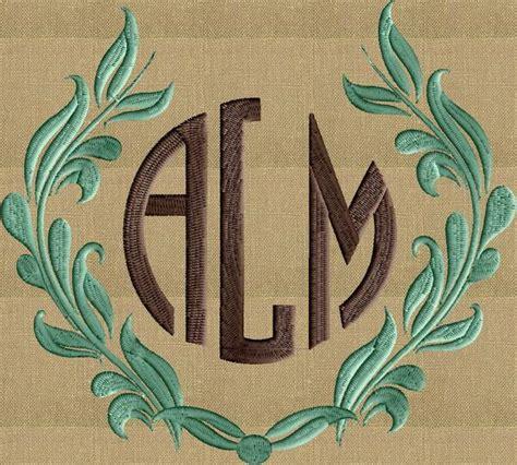block monogram font embroidery file  letters  inches ta stitchelf