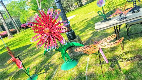 buy a hand made outdoor whimsical metal flower garden yard
