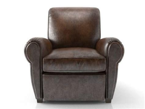 parisian leather recliner 3d model restoration hardware