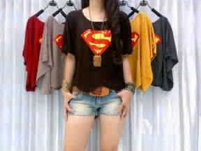 kaos superman spandex t shirt rahma o shop supplier baju hijabers