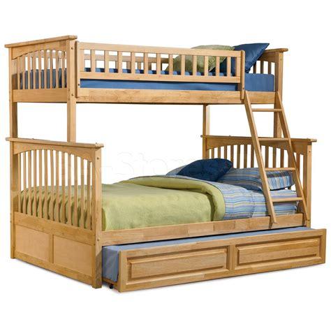 1115 30 columbia twin full bunk bed raised panel