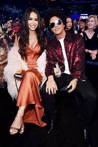 Bruno Mars and Jessica Caban at the 2018 Grammys ...