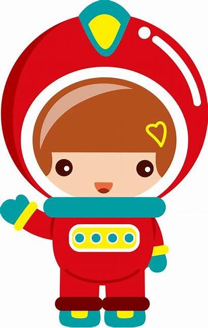 Clipart Space Spaceship Clip Astronaut Kid Astronauts