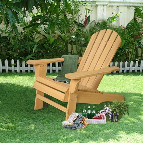 new outdoor fir wood adirondack chair patio lawn