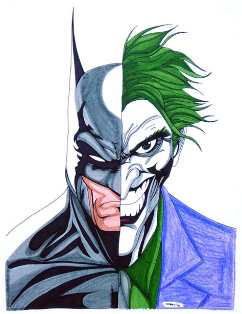 batman joker portrait  eso  deviantart