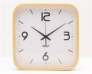 """12"""" Moderne Square Wall Clock from WOLF 
