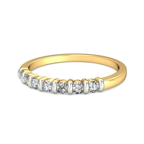inexpensive yellow gold  diamond wedding band