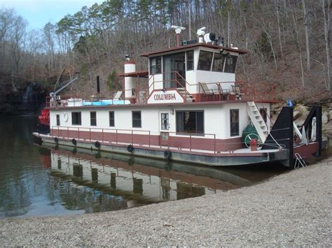 Paddle Wheel Boat For Sale by 1986 Tucker Marine 84 Sternwheeler Paddlewheeler Power