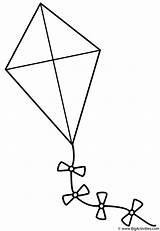 Coloring Kite Spring Bows Kites Activity sketch template