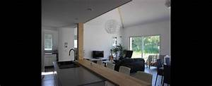 ilot central bar cuisine 14 maison contemporaine With amenagement de jardin contemporain 14 vide sur sejour