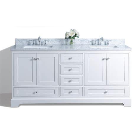 72 double sink vanity marble top shop ancerre designs audrey white undermount double sink