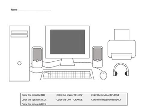 computer parts worksheets for kindergarten parts of a computer worksheets including laptop diagram
