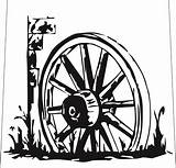 Wheel Wagon Drawing Stencils Paper Clipart Stencil Cutting Wheels Drawings Western Body Country West Cut Coloring Galleries Fence Woodburning Pages sketch template