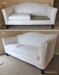 Before after sofa slipcoverjpg for Ethan allen sectional sofa slipcovers