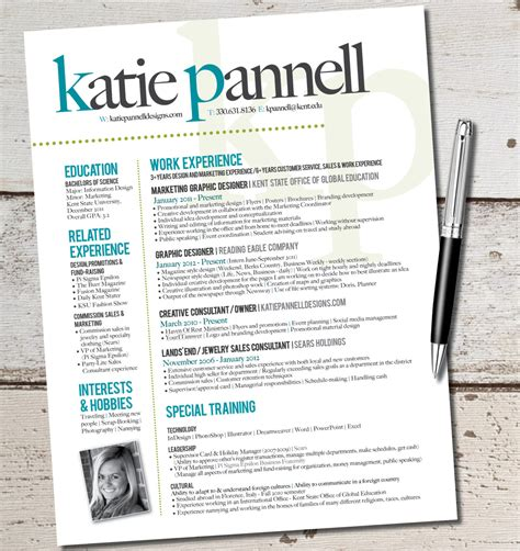 Graphic Resume Layouts by Resume Design Graphic Design Marketing Sales By Vivifycreative