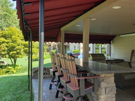outdoor kitchen bar area canopy cover kreiders canvas service