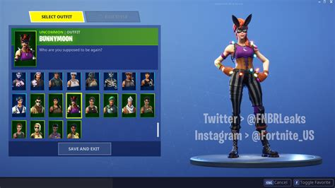 bunnymoon outfit leaked fortnite news