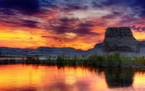 Landscape, Mountain, Sunset Wallpapers Hd  Desktop And