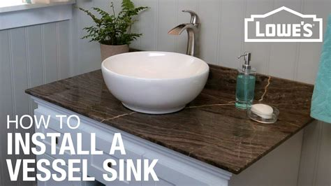 ideas for bathroom vanity how to install a vessel sink