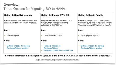 bw moves  hana potential impacts   sap
