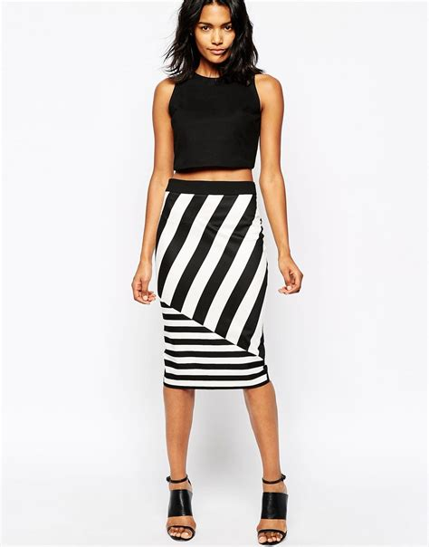 striped skirt dressed up