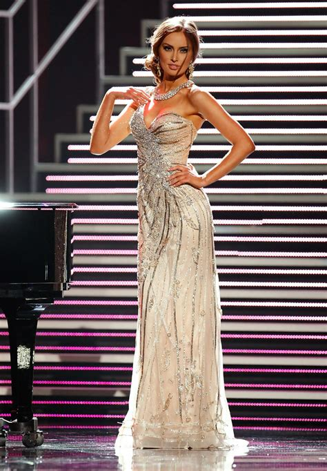 miss universe purcell rozanna pageant ireland evening gown zimbio dress cruz compete